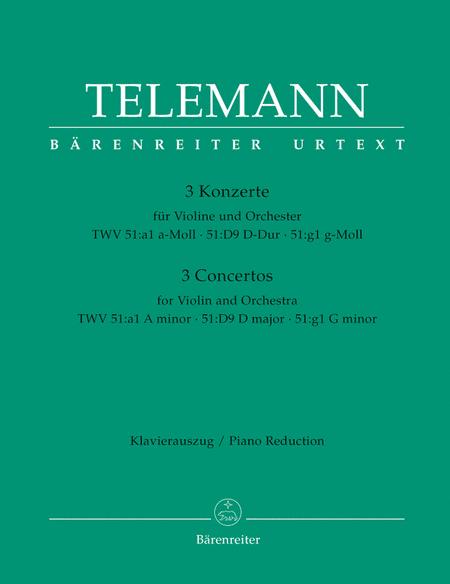 3 Concertos For Violin
