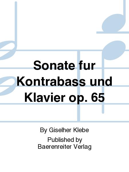 Sonate fur Kontrabass und Klavier op. 65