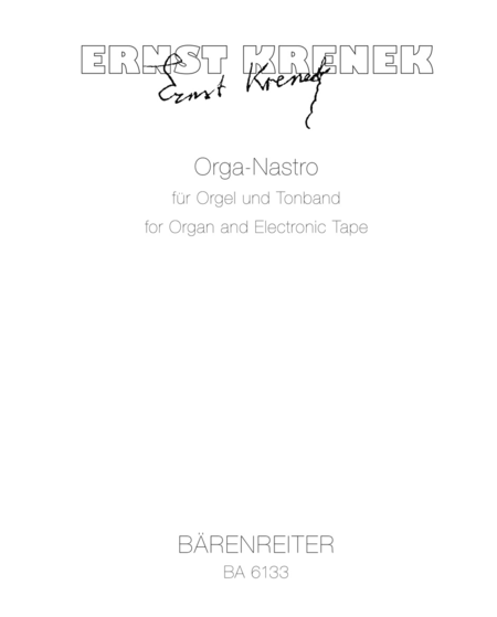 Orga-Nastro for Organ and Tape op. 212