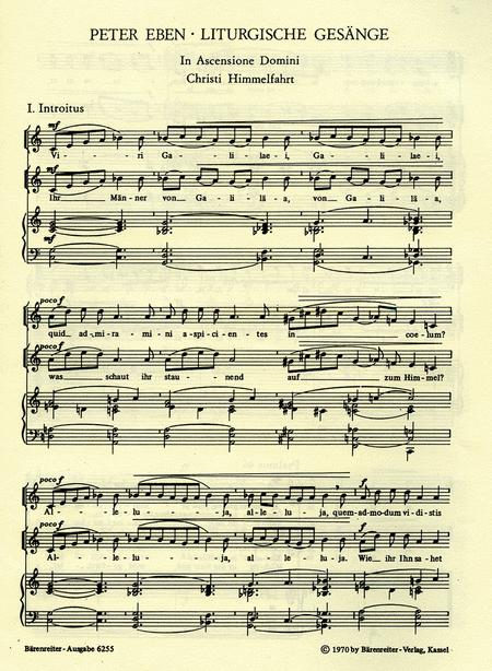 In Ascensione Domini - Proprium zu Christi Himmelfahrt: Viri Galilaei / Ihr Manner von Galilaa