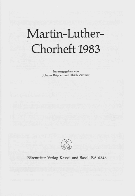 Martin-Luther-Chorheft