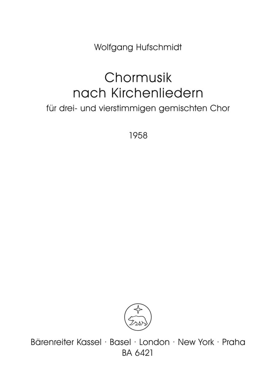 Chormusik nach Kirchenliedern