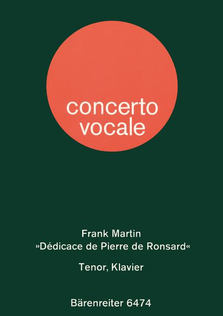 Dedicace de Pierre de Ronsard pour tenor et piano