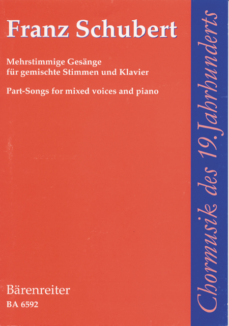 Mehrstimmige Gesange for Mixed Voices and Piano
