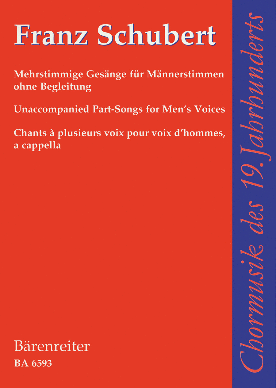Mehrstimmige Gesange for Male Voices