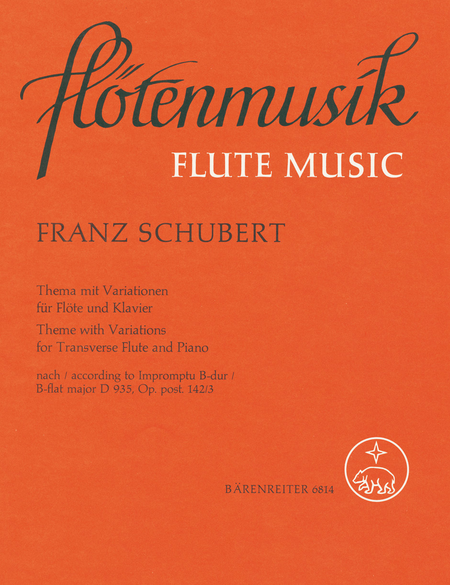 Thema mit Variationen for Flute and Piano op. post.142/3