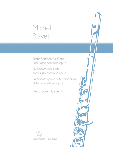 Six Sonatas for Flute and Basso continuo op. 2/1-3