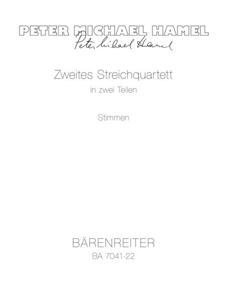 Streichquartett in zwei Teilen, No. 2