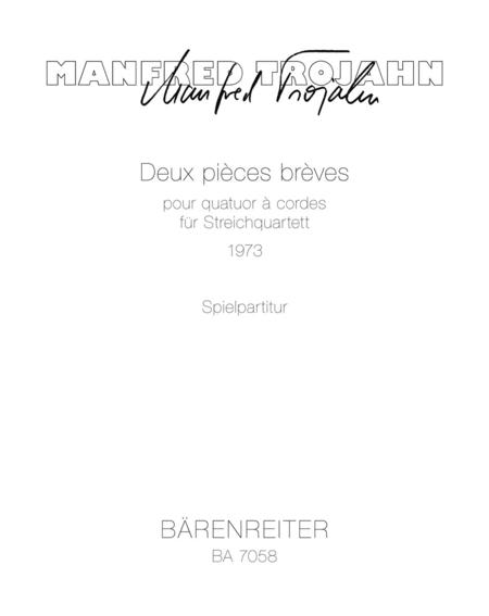 Deux pieces breves pour quatuor a cordes