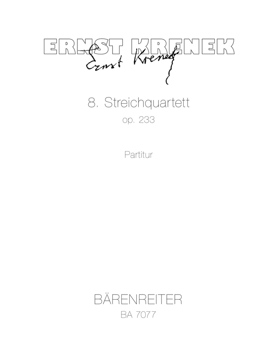 String Quartet No. 8 op. 233