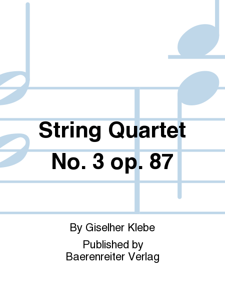 String Quartet No. 3 op. 87