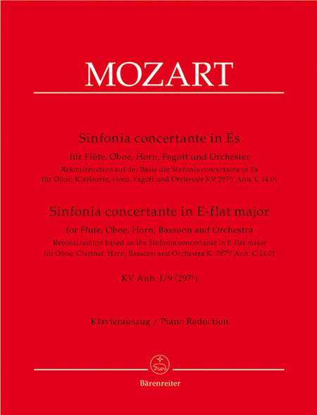 Sinfonia Concertante for four Wind Instruments and Orchestra E flat major KV Anh I/9(297b)