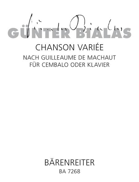 Chanson variee nach Guillaume de Machaut