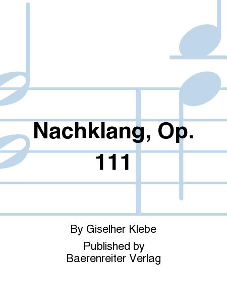 Nachklang, Op. 111