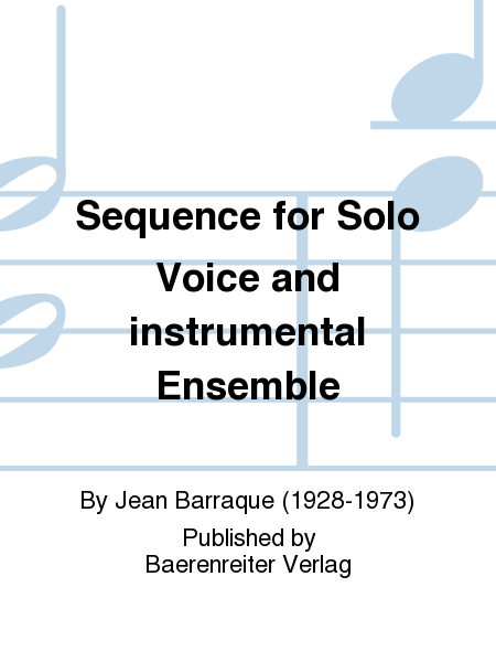 Sequence for Solo Voice and instrumental Ensemble