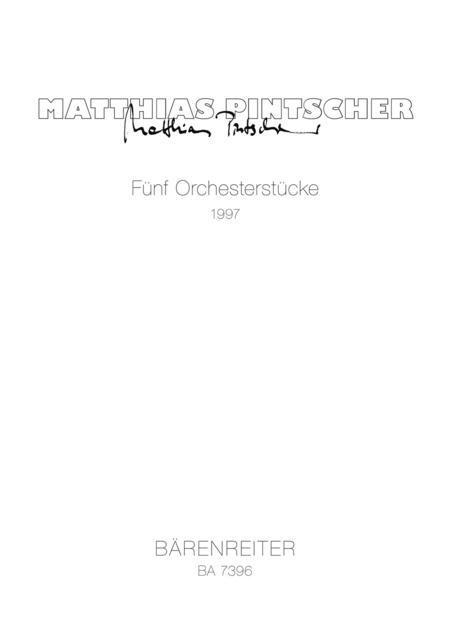 Funf Orchesterstucke
