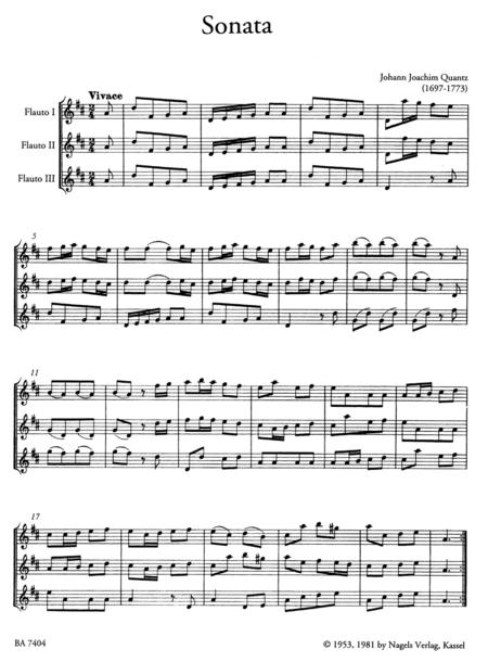 Sonata for three Flutes