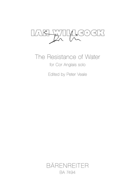 The Resistance of Water