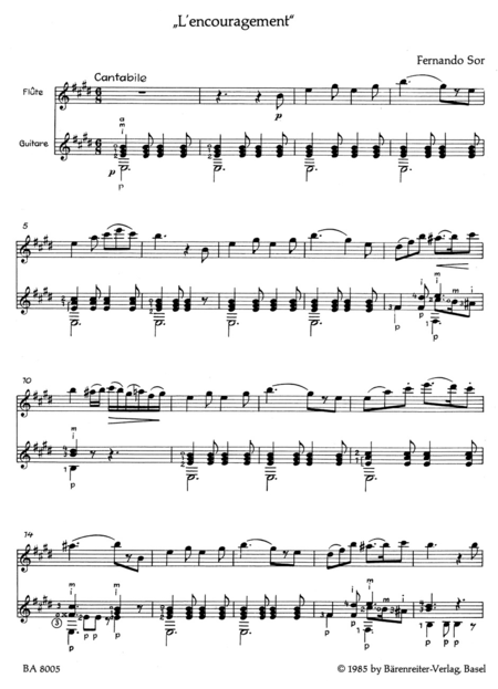 Lencouragement for Flute (or Violin) and Guitar op. 34