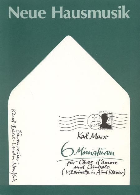 Sechs Miniaturen for Oboe d'amore und Cembalo oder for Clarinet in A und Klavier op. 62/2
