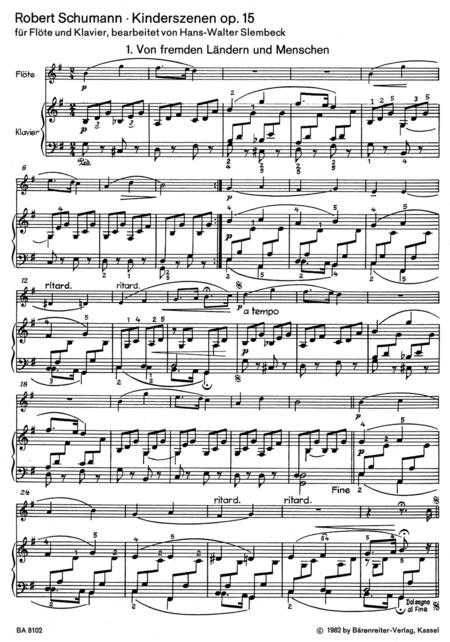 Kinderszenen for Flute and Piano op. 15/1-13
