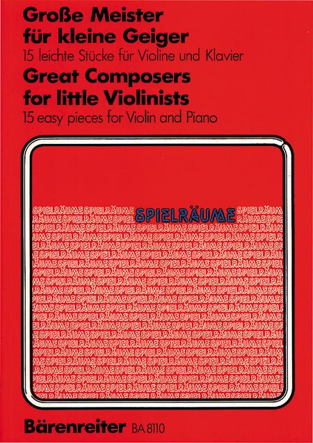 Grosse Meister for little Violinists