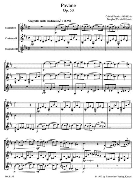 Pavane for three Clarinets