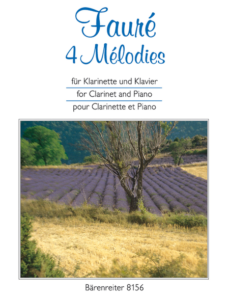 4 Melodies for Clarinet and Piano