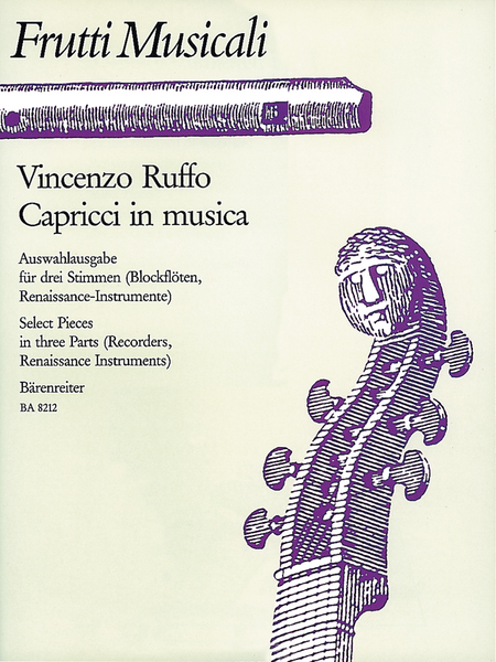 Capricci in musica for Recorder Ensemble, Instruments of the Renaissance or other String or Wind Instruments