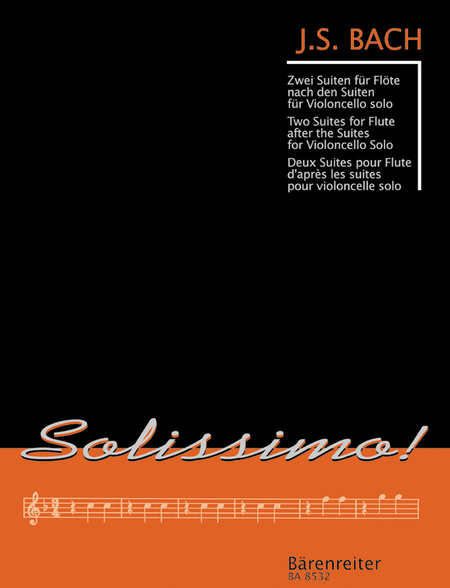 Two Suites for Flute after the Suites for Solo Violoncello BWV 1007, 1009