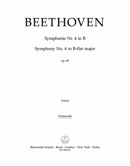 Symphony, No. 4 B flat major, Op. 60