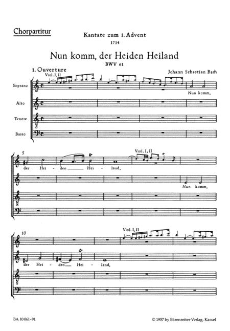 Nun komm, der Heiden Heiland, BWV 61