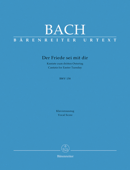 Der Friede sei mit dir, BWV 158