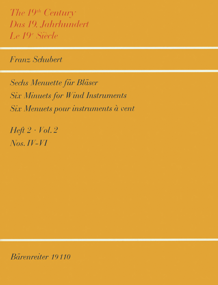 Six Menuets for Winds D 2D