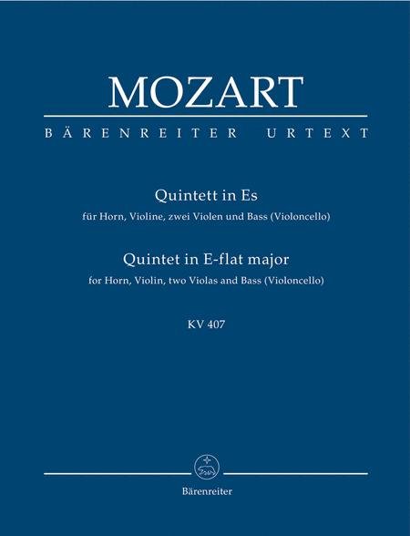Quintett E flat major, KV 407(386c)