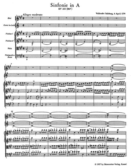 Symphony, No. 29 A major, KV 201(186a)