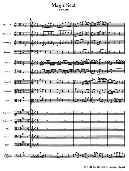 Magnificat E flat major, BWV 243a