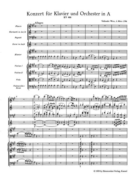 Concerto A major, KV 488