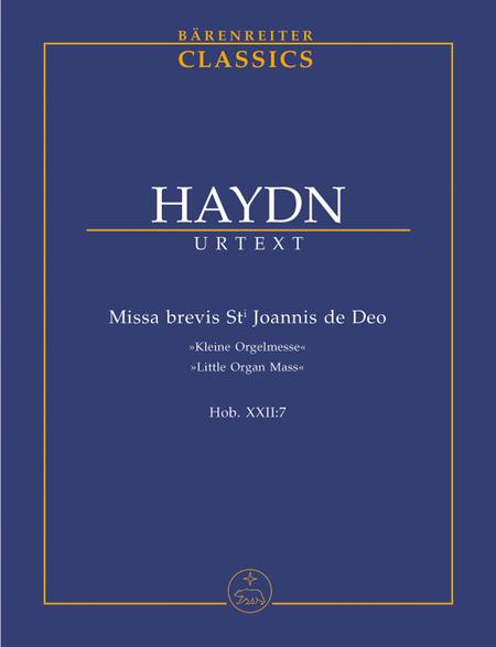 Missa brevis Sti.Joannis de Deo Hob.XXII:7