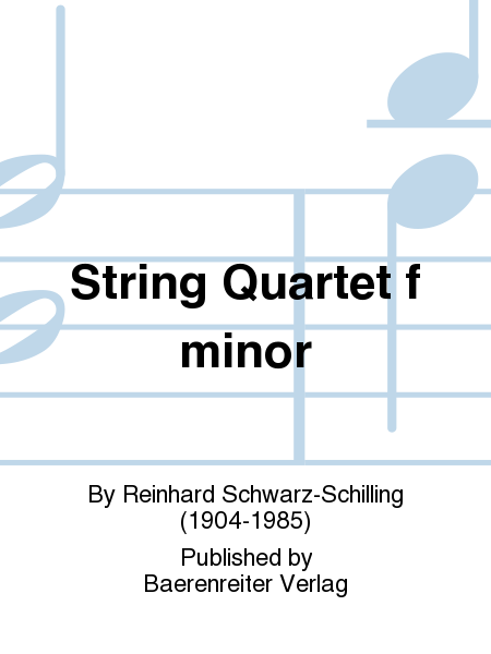 String Quartet f minor