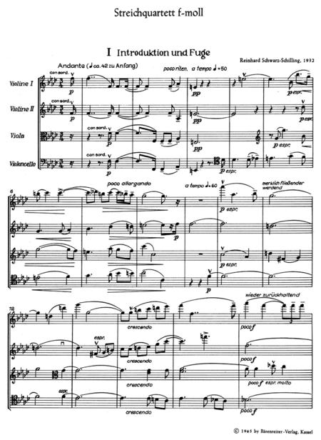 String Quartet f minor