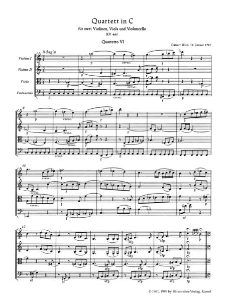 String Quartet C major KV 465
