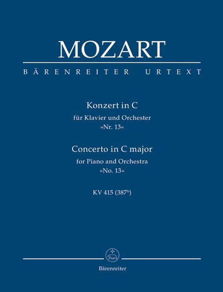 Concerto for Piano and Orchestra, No. 13 C major, KV 415 (378b)