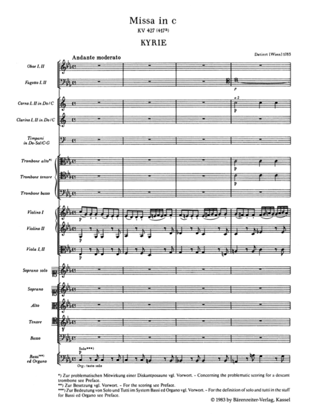 Missa c minor, KV 427 (KV 417a)
