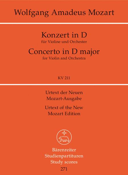 Concerto D major, KV 211