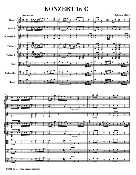 Concerto for Violoncello and Orchestra C major Hob.VIIb:1