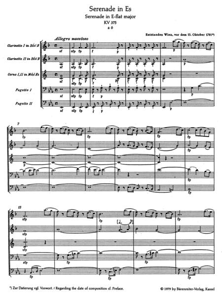 Serenade E flat major, KV 375