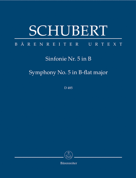 Symphony, No. 5 B flat major D 485