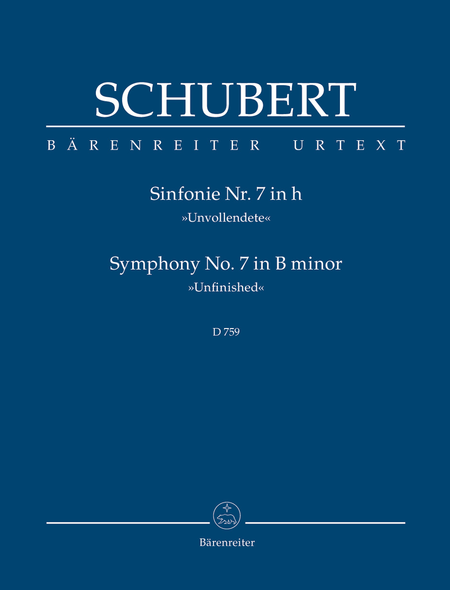 Symphony, No. 7 b minor D 759 'Unfinished'