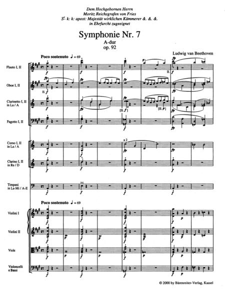 Symphony, No. 7 A major, Op. 92